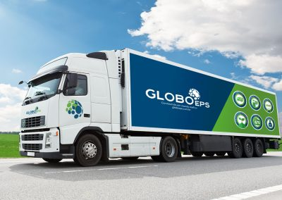 Design para identidade visual de frota da empresa Globo EPS