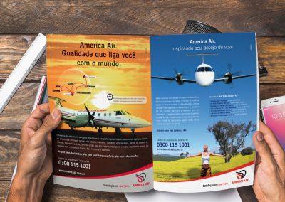 Anúncios para mídia impressa para America Air
