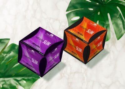 Design de embalagens para chás naturitá SLIM