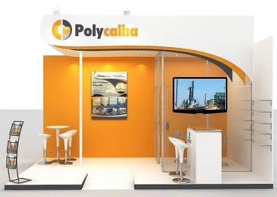 Eventos - estande para Polycalha